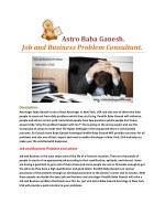 Astro Baba Ganesh. Job and Business Problem Consultant.