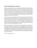 What Are Best Buy Coupons?