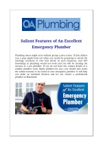 Salient Features of An Excellent Emergency Plumber