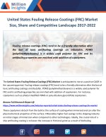 United States Fouling Release Coatings (FRC) Market Manufacturing Cost and Raw Materials Analysis from 2017-2022