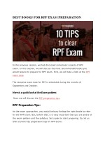 Best Books for RPF Exam preparation
