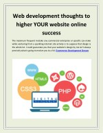Web development thoughts to higher Your website online success