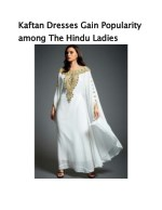 Kaftan Dresses Gain Popularity among The Hindu Ladies
