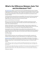 What's the Difference Between Auto Tint and Architectural Tint?