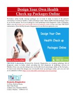 Design Your Own Health Check Up Packages Online