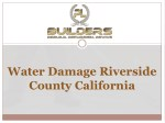 Water Damage Riverside County California