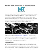 Mptpl Group: Providing Exceptional Quality Mild Steel Products Since 1975