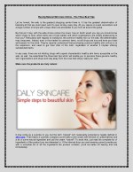 Buying Natural Skin Care Online - The Three Best Tips