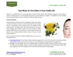 Top Ways to Use Olive in Your Daily Life