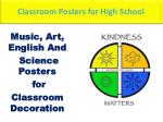 Classroom decoration posters for high school
