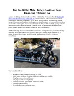 Bad Credit Harley Davidson Financing Pittsburgh PA | Hot Metal Harley Davidson