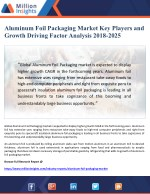 Aluminum Foil Packaging Market Key Players and Growth Driving Factor Analysis 2018-2025