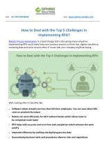 How to Deal with the Top 5 Challenges in Implementing RPA