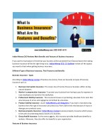 Indian Money CEO Reviews Main Benefits and Features of Business Insurance