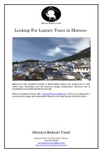 Looking For Luxury Tours in Morocco