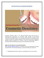 An Overview on Cosmetic Dentistry