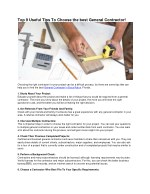 Top 9 Useful Tips To Choose the best General Contractor!