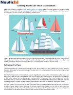 Learning How to Sail: Vessel Classifications