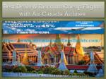 Best Deals & Discount Cheap Flights with Air Canada Airlines