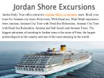 Jordan Shore Excursions