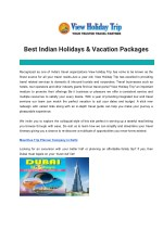 Best Indian Holidays & Vacation Packages