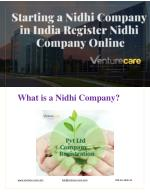 Starting a Nidhi Company in India Register Nidhi Company Online, Nidhi Company Registration Process