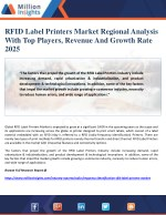 RFID Label Printers Market Regional Analysis With Top Players, Revenue And Growth Rate 2025