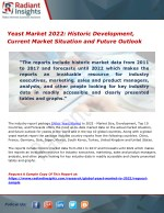 Yeast Market 2022 Historic Development, Current Market Situation and Future Outlook