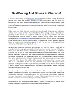 Best Boxing And Fitness in Charlotte!