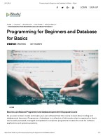 Programming for Beginners and Database for Basics - istudy
