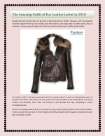 The Amazing Outfit of Fur Leather Jacket In 2018