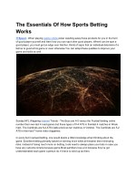 The Essentials Of How Sports Betting Works