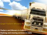 Goyal Movers and packers in Ludhiana
