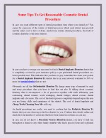 Some Tips To Get Reasonable Cosmetic Dental Procedure