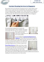 Curtain Cleaning Services in Singapore