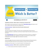 IndianMoney.com Review - Which is Better, a Personal Loan or Business Loan?