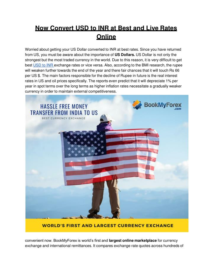 PPT - What is the best way to exchange INR to US Dollars