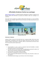 Affordable Andaman family tour packages