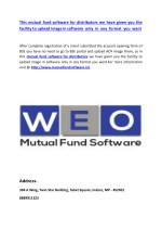 This mutual fund software for distributors we have given you the facility to upload image in software only in any format