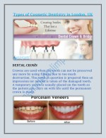 Types of Cosmetic Dentistry in London, UK