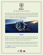 Buy Watches Made in Slovakia