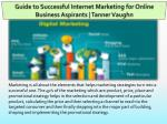 Guide to Successful Internet Marketing for Online Business Aspirants
