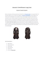 Assassin Creed Brown Long Coat