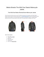 Marlon Brando The Wild One Classic Motorcycle Jacket