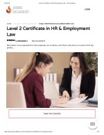 Level 2 Certificate in HR & Employment Law - John Academy