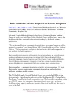Prime Healthcare California Hospitals Earn National Recognition