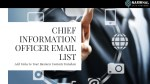 Chief Information Officer Email List