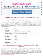 Cisco 300-320 ARCH Exam PDF Questions