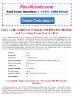 Cisco 400-101 CCIE Routing and Switching Exam Questions