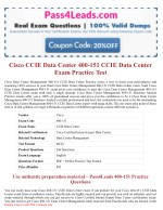 Cisco 400-151 CCIE Data Center Exam Questions